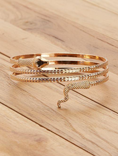 Bracelet égyptien serpent                             doré Femme