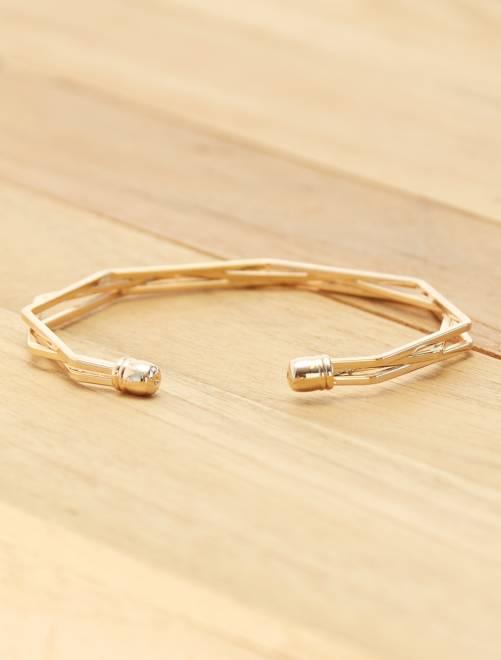 Bracelet graphique                             doré
