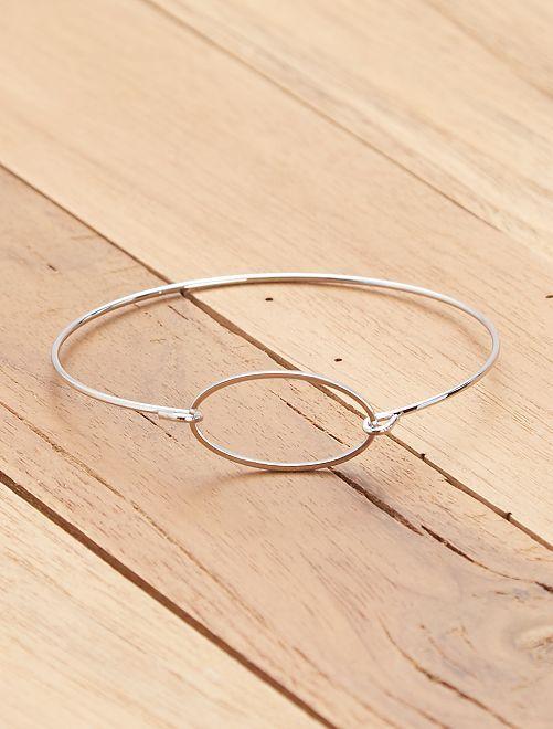 Bracelet jonc en métal argenté                             argent Femme