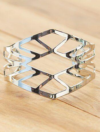 Grande taille femme - Bracelet manchette ajouré - Kiabi