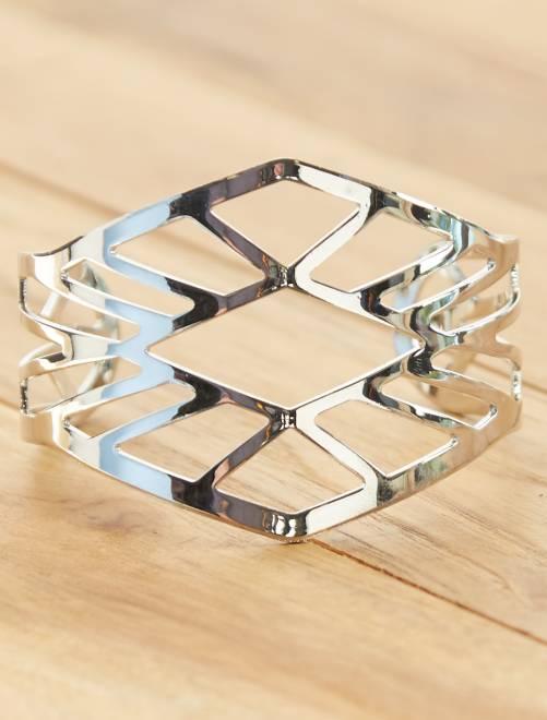 Bracelet manchette ajouré                                         argent