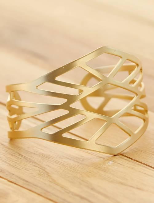 Bracelet manchette ajouré                                         doré Femme