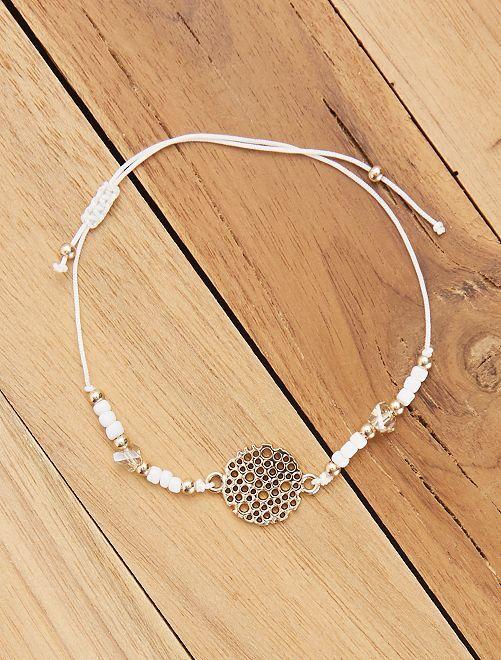 Bracelet souple avec filigrane                                         blanc Femme