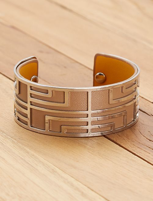 Bracelet style manchette                                         beige