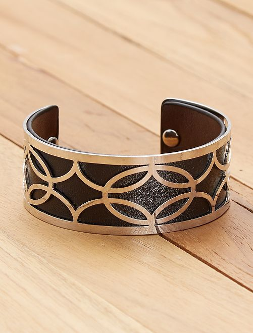 Bracelet style manchette                                         noir