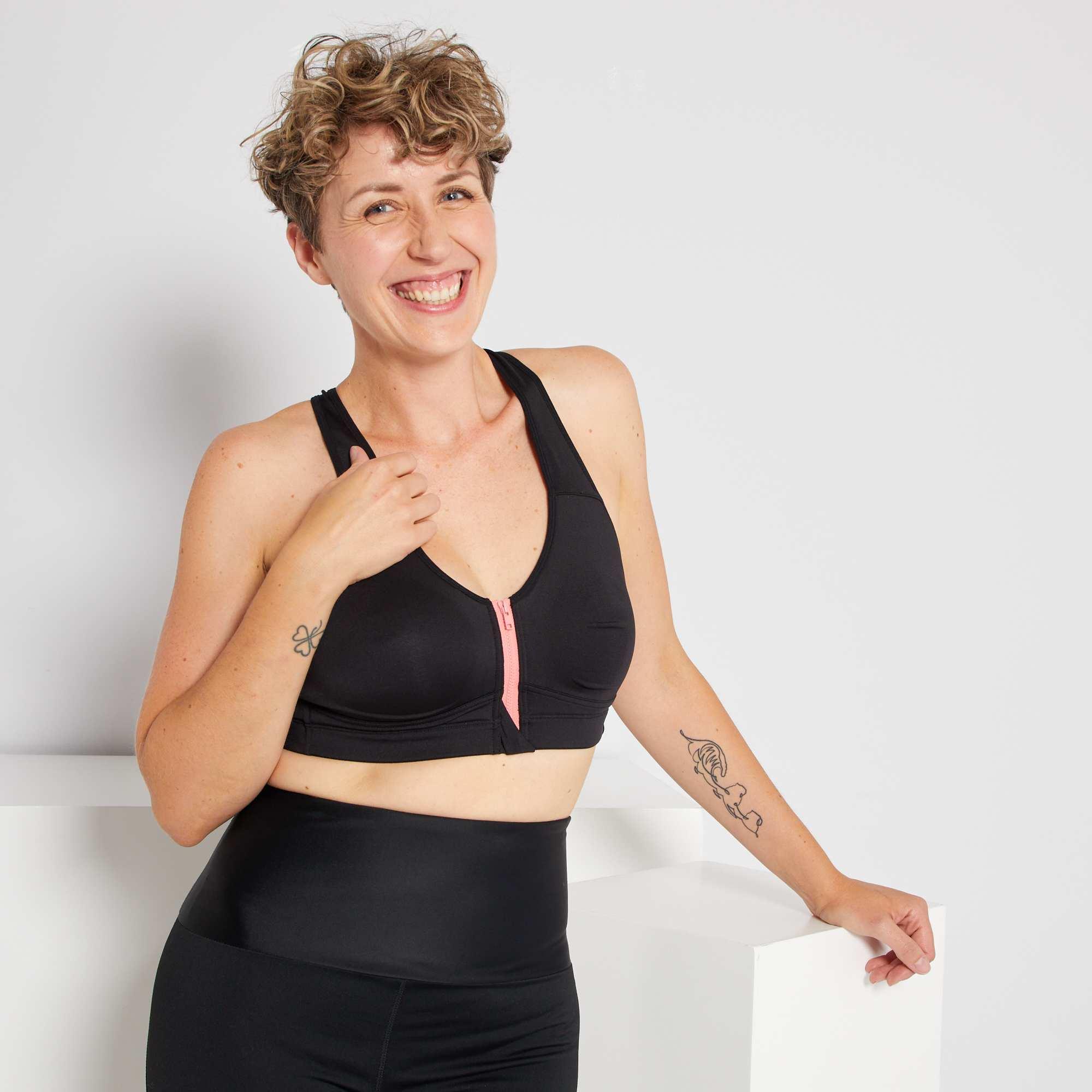 Couleur : noir, , ,, - Taille : S, , ,,Cette brasière de sport post-opération vous garantit un confort optimal durant
