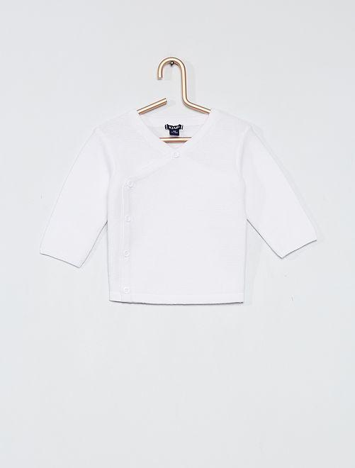 Brassière en coton 'éco-conception'                                         blanc