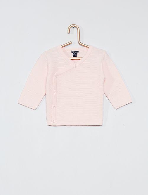 Brassière en coton 'éco-conception'                                         rose pâle