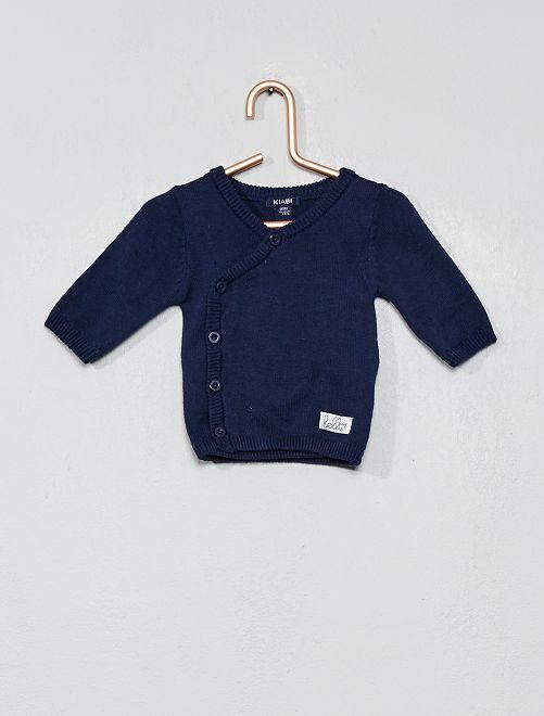 Brassière en maille fine coton bio                                                     bleu marine Bébé garçon