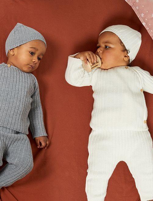 Brassière 'La Manufacture de Layette' en laine                                         écru
