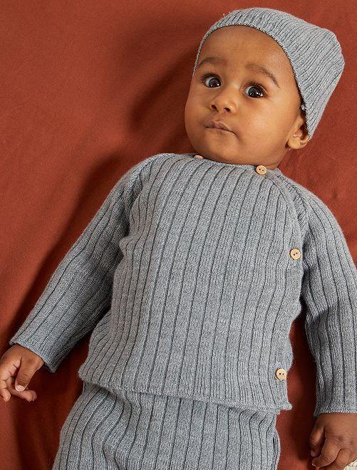 Brassière 'La Manufacture de Layette' en laine                                         gris