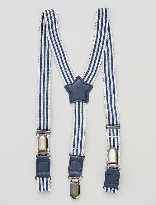 Bretelles élastiquées                             bleu marine