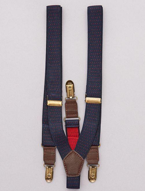 Bretelles élastiques                             bleu navy Homme