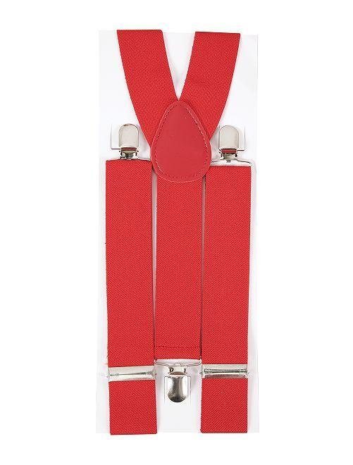 Bretelles unies                             rouge