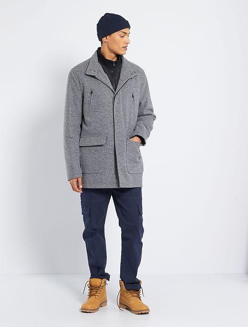 Caban esprit lainage chiné                             gris