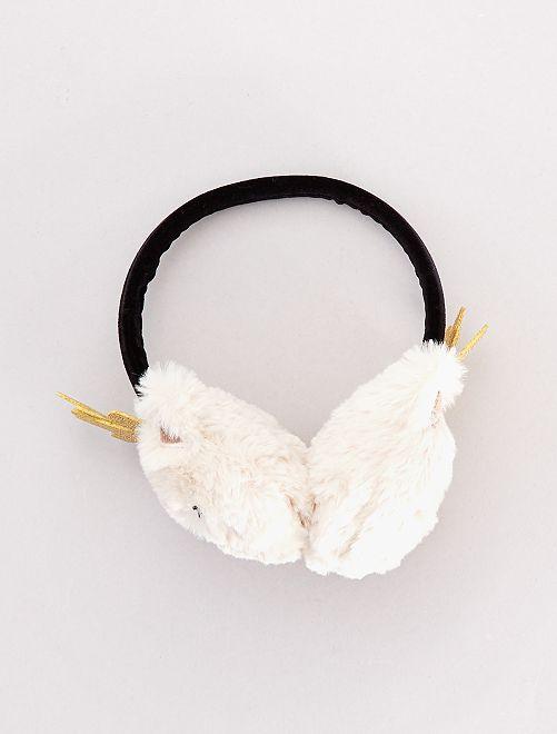 Cache-oreilles en fausse fourrure                             beige