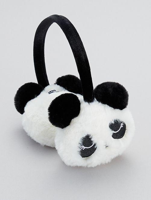 Cache-oreilles 'panda'                             blanc