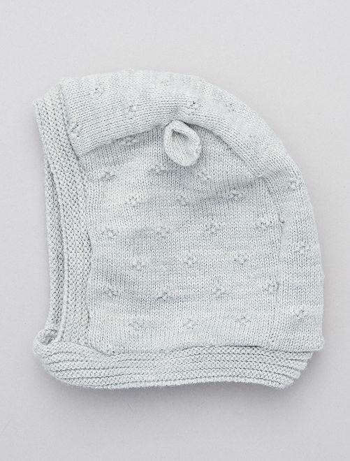Cagoule en maille tricot                             gris