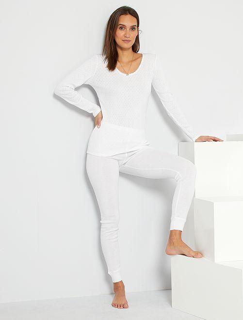 Caleçon Thermolactyl 'Damart'                                                     blanc