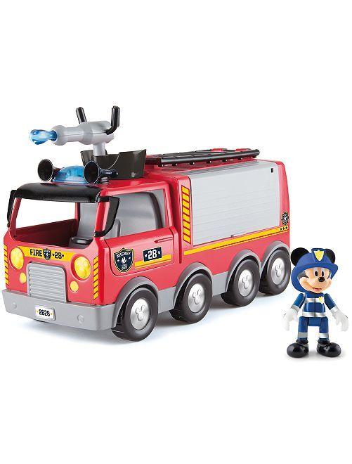Camion de pompier 'Mickey'                             rouge