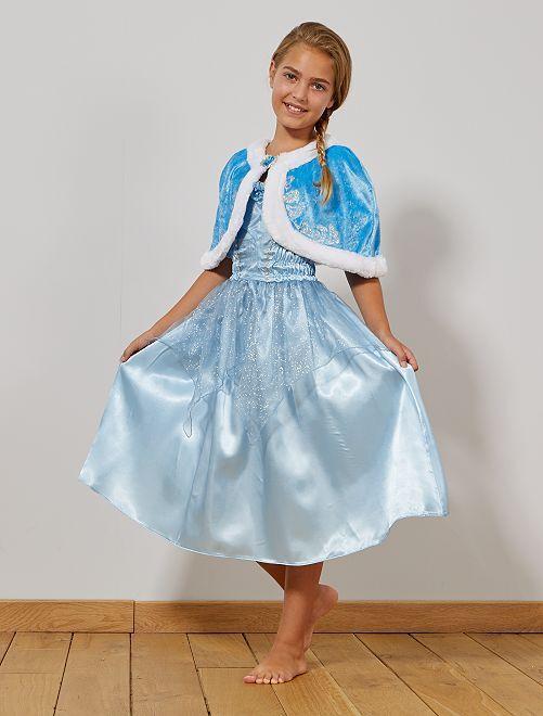 Cape courte de princesse en velours                     bleu