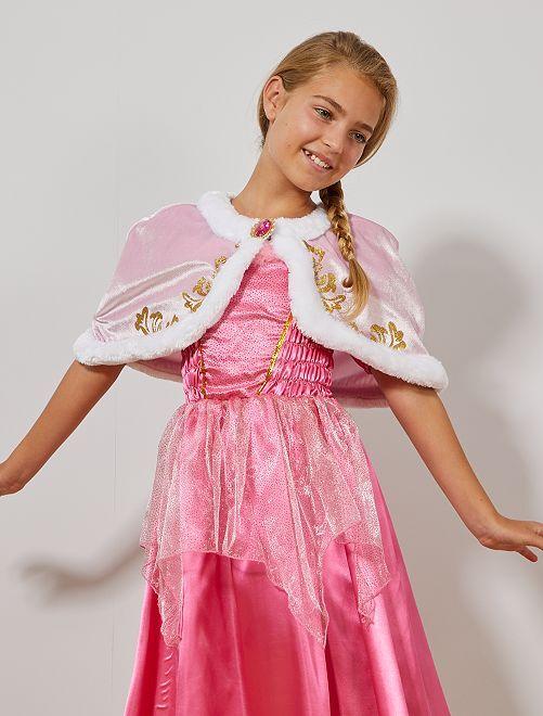 Cape courte de princesse en velours                                         rose