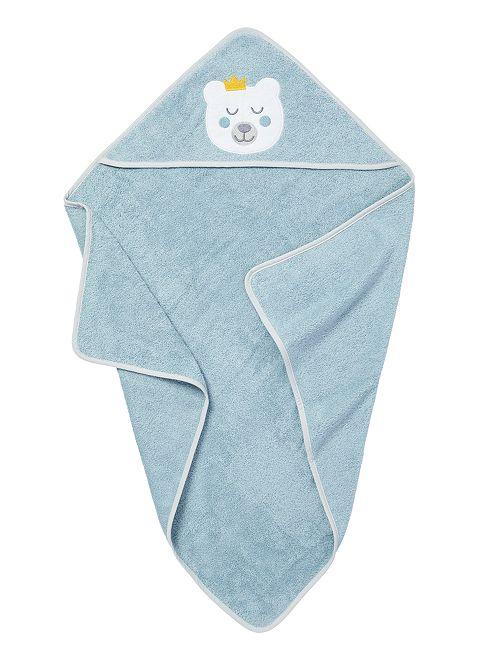 Cape de bain en éponge                                                     bleu