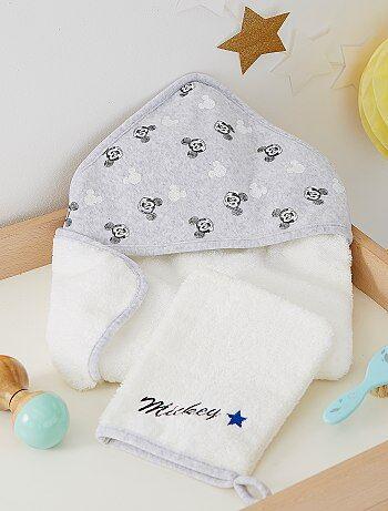 Cape de bain et gant 'Mickey'