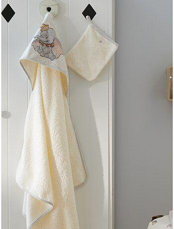 Cape de bain + gant de toilette 'Dumbo'