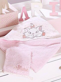 Chambre, bain - Cape de bain + gant en éponge 'Marie' - Kiabi