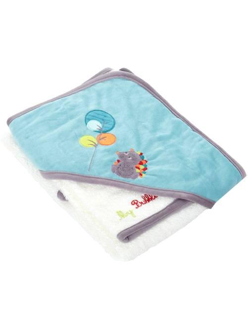 cape de bain gant th me 39 for t 39 b b gar on blanc kiabi 12 00. Black Bedroom Furniture Sets. Home Design Ideas
