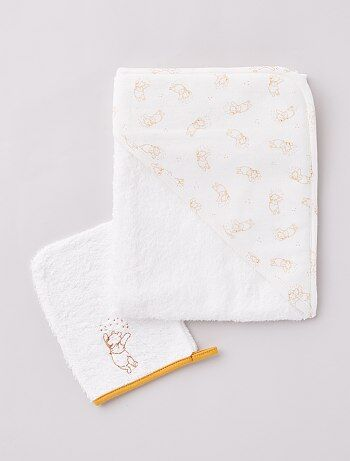 Cape de bain + gant 'Winnie l'ourson' de 'Disney'