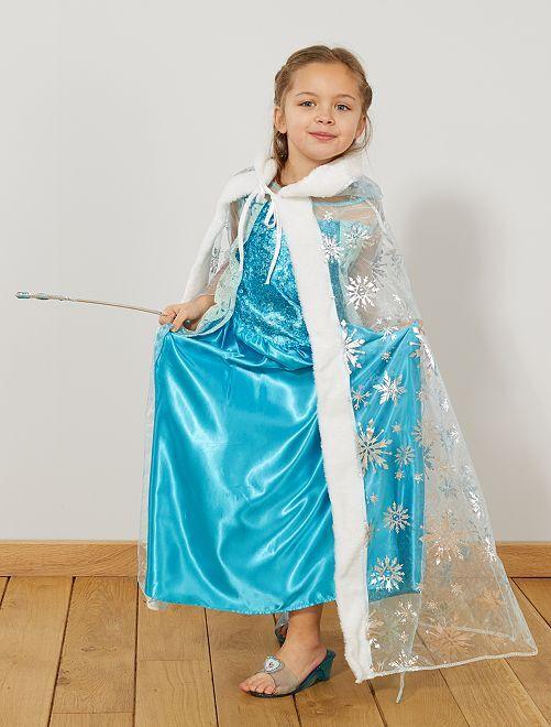 Cape de princesse des glaces                             bleu Enfant