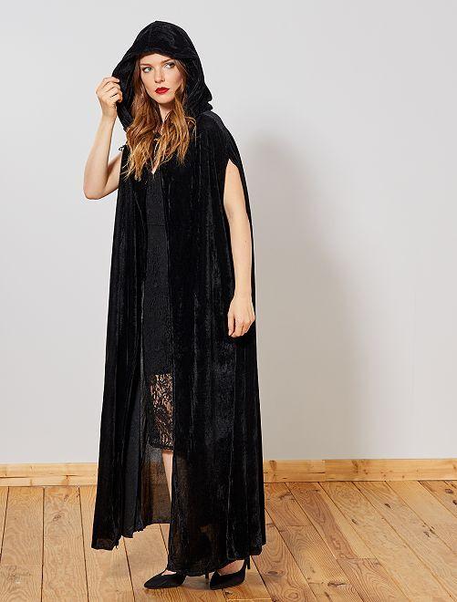 Cape de vampire en velours                             noir