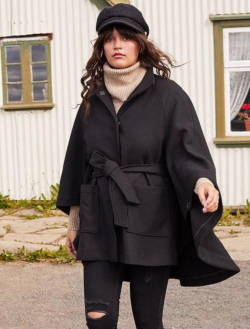 Cape en lainage                             noir