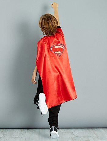 Cape réversible 2 en 1 'Batman' et 'Superman'
