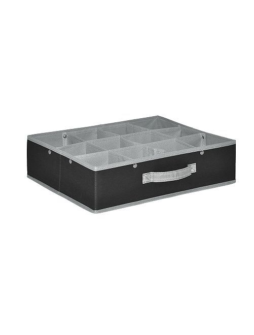 Casier pliable 12 compartiments                                         anthracite/gris