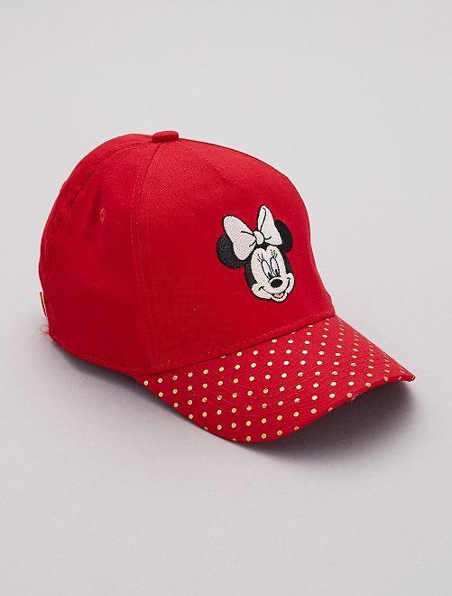 Casquette à pois 'Minnie'                             rouge