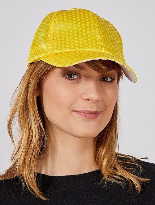 Casquette à sequins fluo                                                                 jaune Accessoires