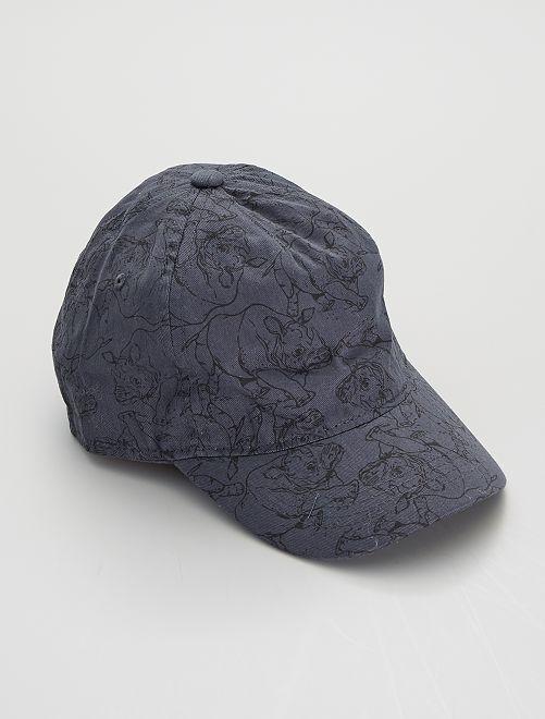 Casquette brodée imprimée 'rhinocéros'                                         bleu