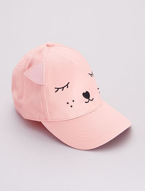 Casquette 'Chat'                             rose