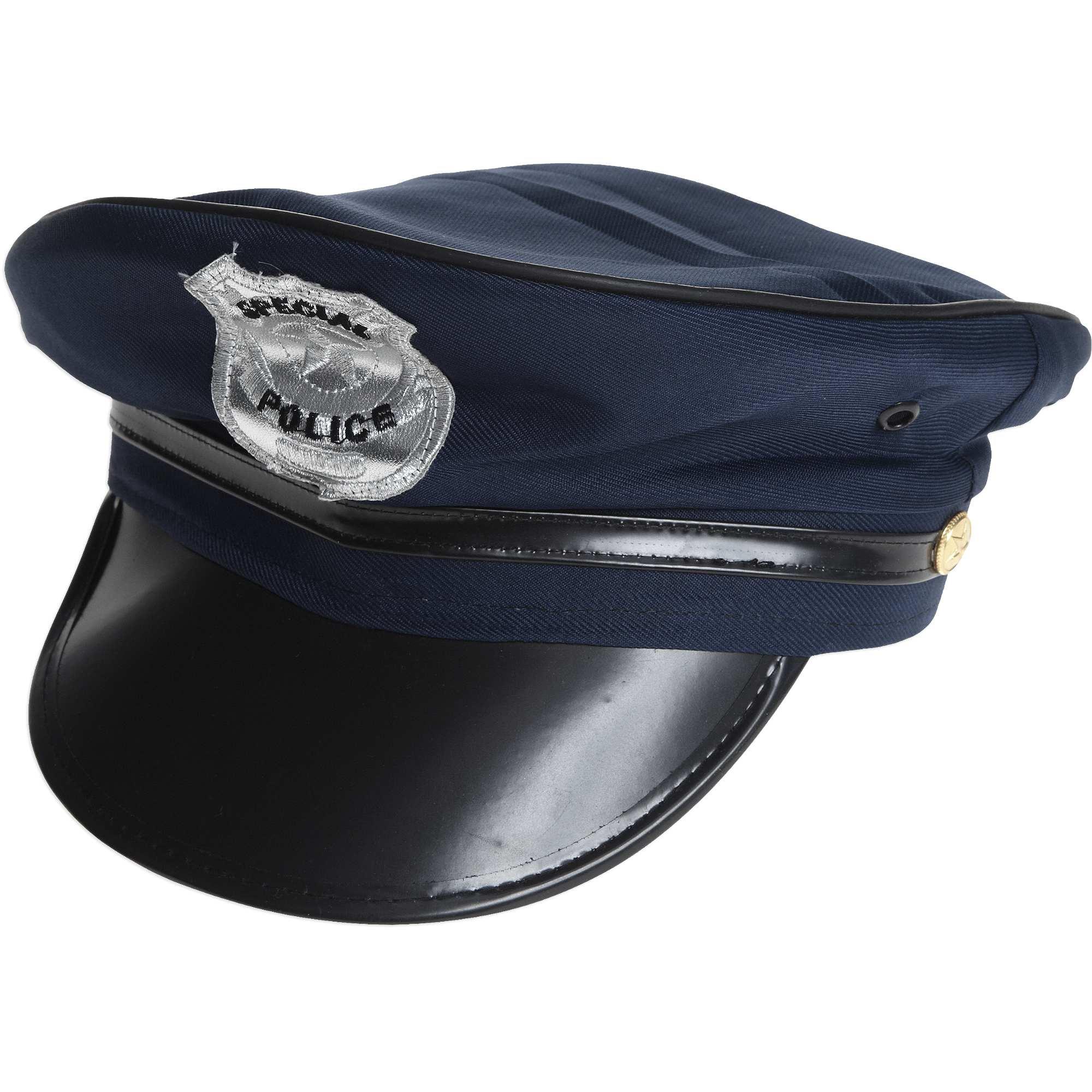 Casquette De Policier Avec Visière Et Insigne Accessoires Bleu