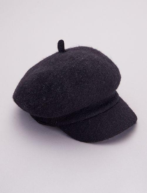 Casquette en laine                                         noir