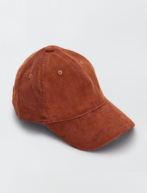 Casquette en velours côtelé                                         marron