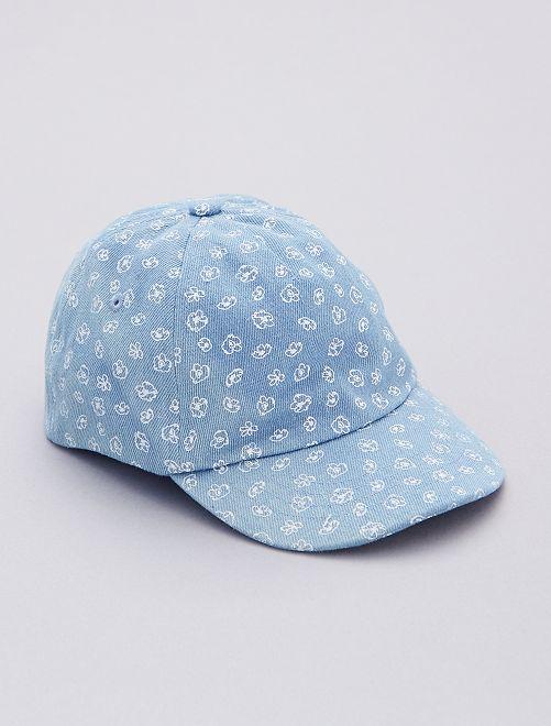 Casquette imprimé fleurs                             bleu
