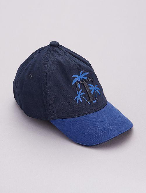 Casquette imprimé 'Palmiers'                             bleu marine