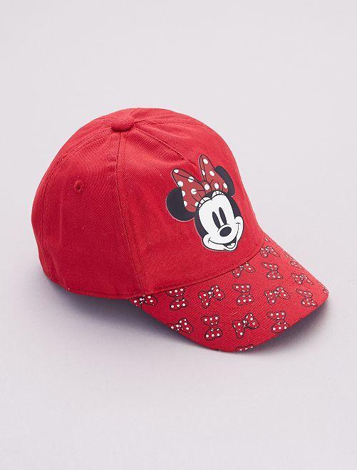Casquette imprimée 'Minnie' de 'Disney'                             rouge