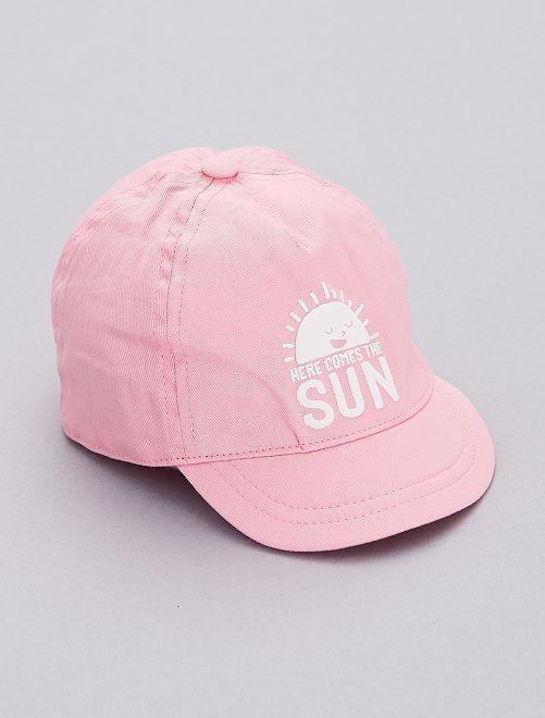 Casquette imprimée                                                                                         rose