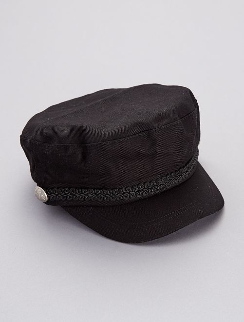 Casquette rétro style marin                                         noir