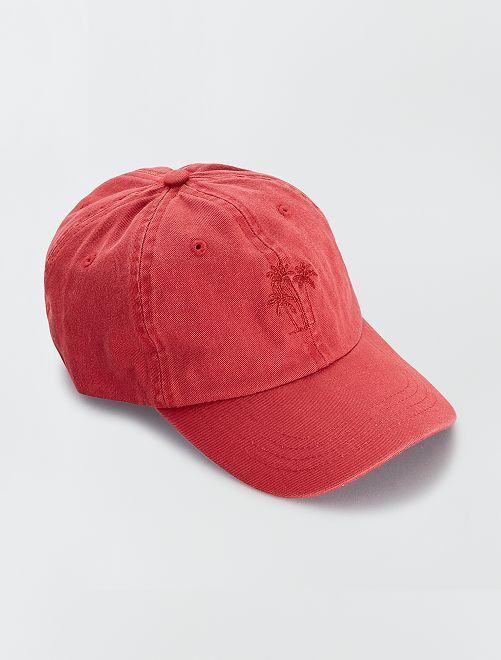 Casquette unie                                         rouge